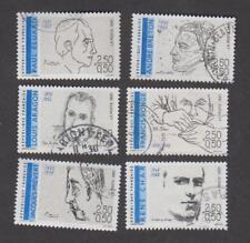 France -Timbres oblitérés - Poètes Français - N°2681 à 2686 - 1991 -TB