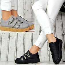 Neu Designer Plateau Sneaker mit Schnallen Turnschuhe Damenschuhe Sportschuhe