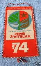 """Ausstellungswimpel, CSSR, Landwirtschaftl. Ausstellung """"Brotkorb"""", 1974"""
