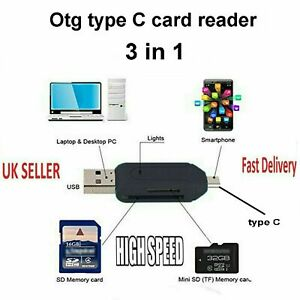 type c Memory Card Reader USB 3.1 otg for iphone micro sd sdhc 12 pro max mini 3