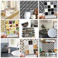 18pcs/set 3D DIY Waterproof Self Adhesive Wall Stickers Mosaic Tile Home Decal