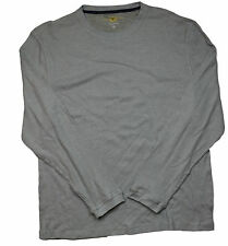 Club Room Gray Thermal Knit L/S Shirt in XL