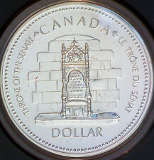 Uncirculated 1977 Canada $1 Silver Dollar Throne of the Senate