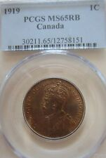 1919 Canada Large Cent Coin. PCGS MS-65 RED