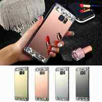 Luxury Bling Glitter Diamond Crystal Ring Mirror Case Acrylic +TPU Phone Cover