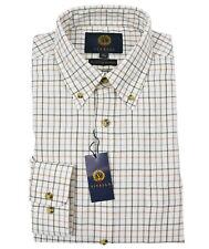 Viyella Lovat Green Tattersall 80/20 Cotton Wool Blend Button Down Collar Shirt