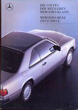 Mercedes-Benz W124 Coupes sales brochure Aug 1987 German market