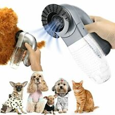 Electric Cat Dog Pet Hair Remover Shedding Grooming Brush Vacuum Cleaner Trimmer