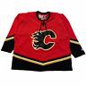 Size XXL - 90s CCM Calgary Flames Alternate NHL Hockey Jersey Red / Black VTG