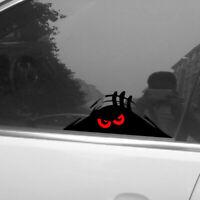 Funny Decal Bumper  Auto  Car Sticker Monster Peeking Red Eyes Vinyl