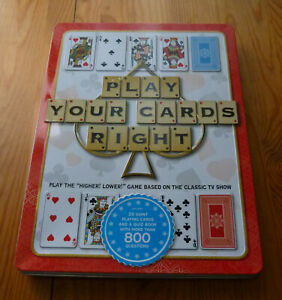 Classic TV Game Show Play Your Cards Right. Now you can play at Home 100% comp