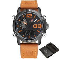 Men's Fashion Sport Watches  Man Leather Military Waterproof Watch Men's Clock