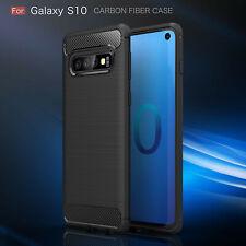 Samsung Galaxy S10 Carbon Hülle Schutzhülle TPU Bumper Outdoor Handy Tasche Neu