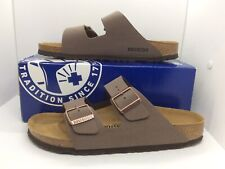 BIRKENSTOCK Women Arizona Mocca Brown Birko Flor Sandal Shoe Sz 11 EU42 ZB7-48