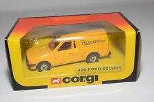 ^ CORGI TOYS 499 FORD ESCORT 55 VAN BRITISH TELECOM MINT BOXED