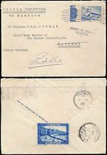 BELGIUM to UGANDA 1939 CENSORED COVER to BUTIABA FORWARDED to ENTEBBE