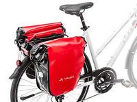 Vaude Aqua Packtaschen Fahrradtaschen wasserdicht 2er Set 42 L rot