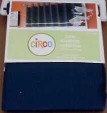 "Circo Window Valance - 54""x15"" - 100% Cotton - BRAND NEW IN PACKAGE - Navy Blue"