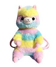 Kawaii Rainbow Alpaca Plush Backpack Bag Cute Japan Llama Pastel Fairy Kei Japan