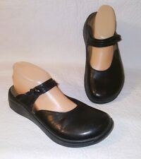 TATAMI Birkenstock  Black Leather Mary Jane Mules Clogs Womens Size 8