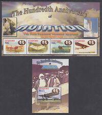 Lesotho Sc 1334/1428 MNH. 2004-2008 issues, 4 complete sets + Souvenir Sheets