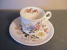VINTAGE ENGLISH COPELAND SPODE POTTERY ROMNEY DEMITASSE TEA CUP & SAUCER SET