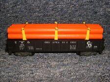 911 American Flyer C&O Gondola w/ Repro Orange Pipes