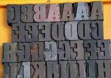 "letterpress wood printing blocks 56 pcs 1.93"" tall alphabet type woodtype ABC"
