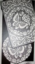829 Vintage Filet BUTTERFLY ROSE Doilies Pattern to Crochet (Reproduction)