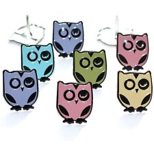 WINKING OWL BRADS ** 8 PCS ** 5 PASTEL COLORS ** SEE MY STORE **