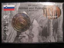 "2 euro pièce commémorative slovénie 2013 BU ""Grottes de postojna"" Coincard/infokarte"