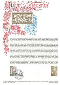 1e jour Timbre sur document philatélique - Fleurir la France