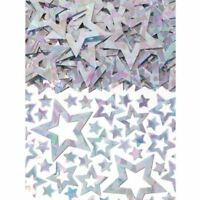 14g Shimmer Star Prismatic Silver Confetti Galaxy Birthday Party Table Sprinkles