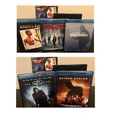 Christopher Nolan Director's Collection Bluray Batman Inception Memento Insomnia