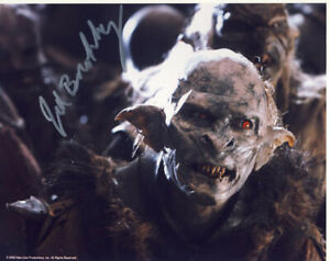SALE The Lord Of The Rings Jed Brophy (Snaga - Orc) Signed 10x8 Photo L21
