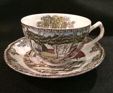 """JOHNSON BROTHERS FRIENDLY VILLAGE/CUP AND SAUCER SET 2 3/8"""" - ICE HOUSE"""