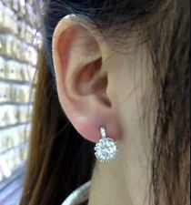 Solid S925 sterling silver Cz stunning Ear Stud Earring. Usa seller