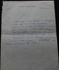 Réalisateur Jean DREVILLE autographe