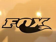 4x Black Fox Shox Tail Vinyl Decal Sticker Forks /Mountain Bike/Frame Set