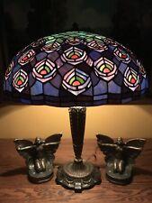 No Reserv Arts Crafts Vintage Leaded Slag Glass Bradley Hubbard Handel Type Lamp