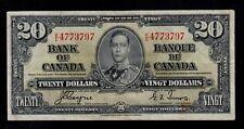 CANADA 20 DOLLARS  1937  K/E  PICK # 62c  VF.