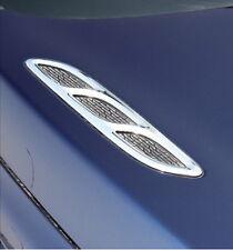 Car Chrome Hood Decoration Air Intake Flow Vent Fender Cover  Side Badge V-623