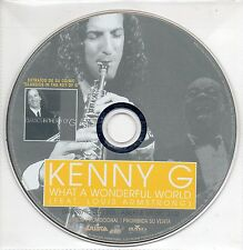 "KENNY G ""WHAT A WONDERFUL WORLD"" SPANISH PROMO CD SINGLE / LOUIS ARMSTRONG"