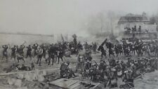 "19th C. Steel Engraving ""The Defence of Champigny"" by Edouard Detaille"