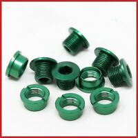 NOS ERGAL CHAINRING BOLTS SINGLE SPEED TRACK ALLOY LIGHTWEIGHT GREEN VINTAGE 90s