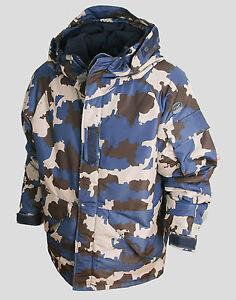 SOUTHPLAY Mens Ski Snowboard Hood Jacket Jumper Parka Suits Blazer Top CAMO BLUE