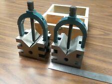 Multi Use V Block Amp Clamp Set 2 34x2 12x2 2 Capacity 706 Sz 212 New