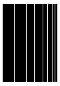 3M Scotchlite Reflective A5 Sticker Pack Stripes (Black Decal Bike Cycle Helmet)