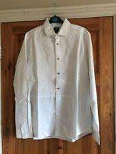 BNWOT white mens dress shirt- button & front panel details - H&M - Size M