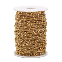 5 Meters Gold Stainless Steel Satellite Chain Bead Ball Cable Chain Findings